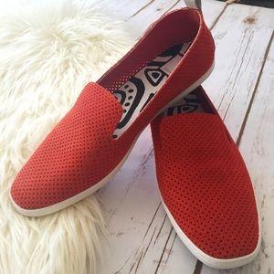 Dolce Vita burnt orange loafer style shoes